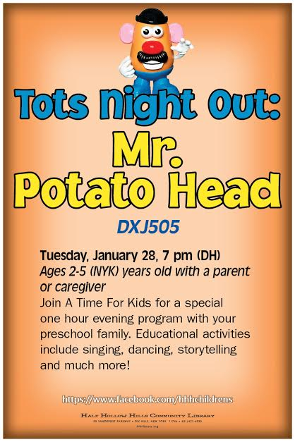 Tots Night Out Mr Potatohead
